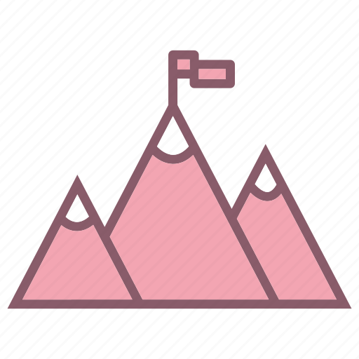 business, goal, montain, startup icon
