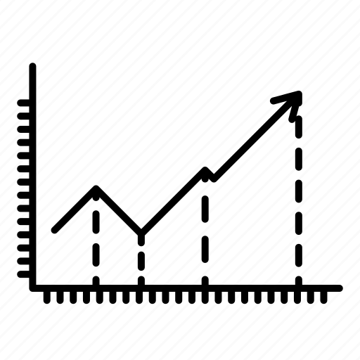 business, chart, diagram, graph, grid, line chart, startup icon