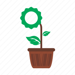 decoration, flower, garden, grow, nature, pot, tree icon