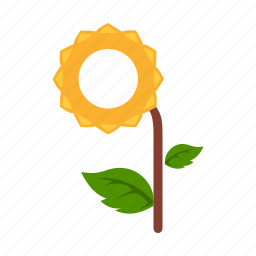 environment, flower, grow, leaf, plant, sunflower, tree icon