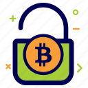 bit, bitcoin, crypto, currency, lock, money, secure icon