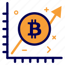 bit, bitcoin, crypto, currency, graph, money icon