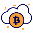 bit, bitcoin, cloud, crypto, currency, money, online
