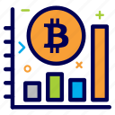 bit, bitcoin, crypto, currency, graph, money, progress icon