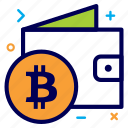 bit, bitcoin, crypto, currency, money, wallet icon