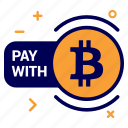 bit, bitcoin, crypto, currency, money, pay, with icon