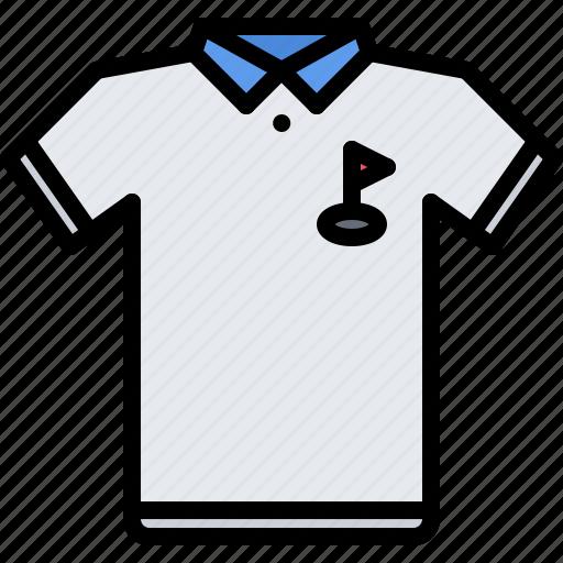 field, golf, golfer, polo, sport, uniform icon