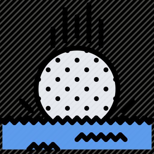 ball, field, golf, golfer, sport, water icon