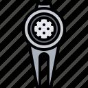 ball, field, golf, golfer, marker, sport icon