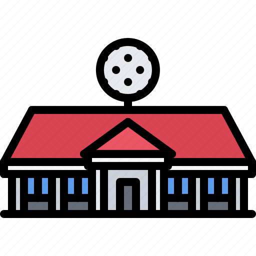 building, club, field, golf, golfer, sport icon