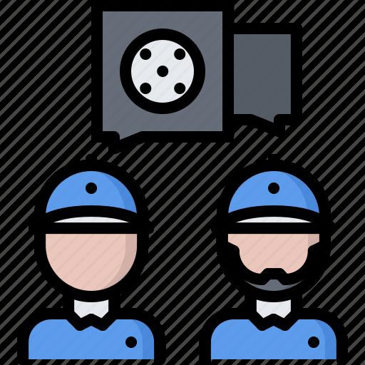 education, field, golf, golfer, sport, talk, trainer icon