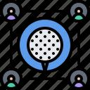 field, golf, golfer, group, people, sport, team icon