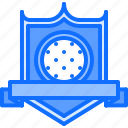 golf, ribbon, field, shield, sport, badge, golfer