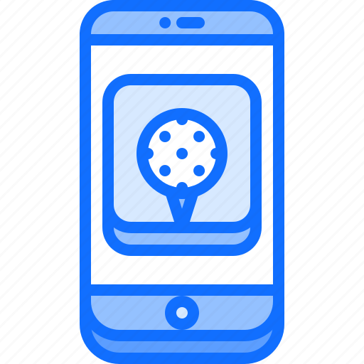 app, application, field, golf, golfer, phone, sport icon
