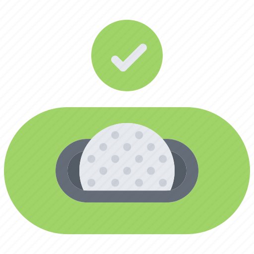 ball, check, field, golf, golfer, hole, sport icon