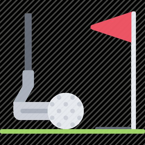 ball, club, field, golf, golfer, hole, sport icon