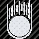ball, field, golf, golfer, hit, speed, sport