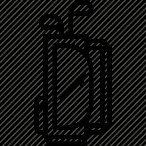 bag, club, field, golf, golfer, set, sport icon