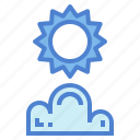 cloud, cloudy, sun, sunshine icon