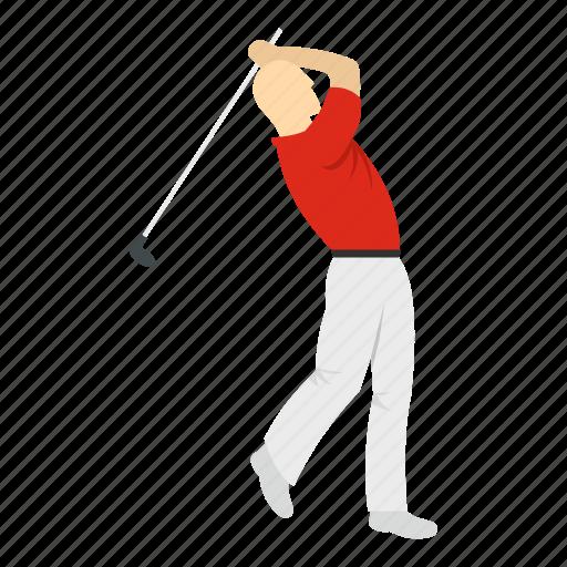 ball, golf, golfer, man, player, sport, swing icon