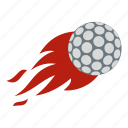 ball, burn, circle, fire, golf, golfing, round icon