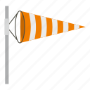 direction, flag, speed, storm, weather, wind, windsock icon