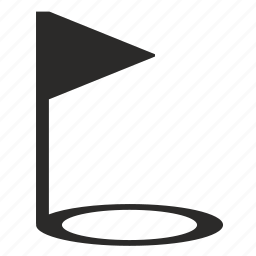flag, golf, place, point icon