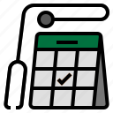 health, hospital, annual check up, check up, doctor appointment icon