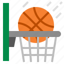 basketball, hobby, sport, basketball hoop, spend time on a hobby icon