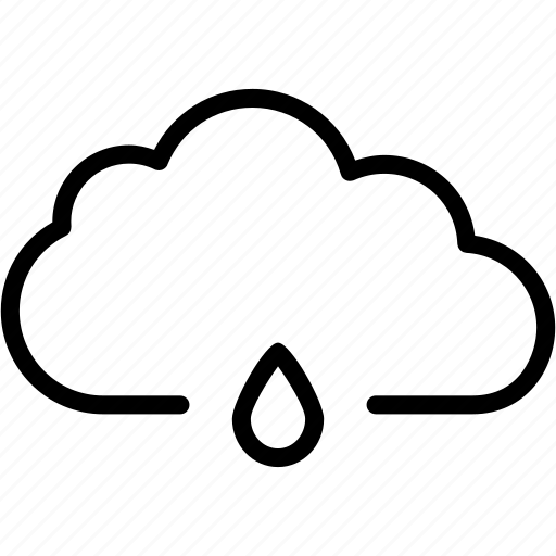 cloud, cloudy, drop, forecast, rain, rainy, weather icon