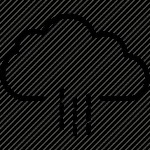 cloud, cloudy, forecast, rain, raining, weather icon