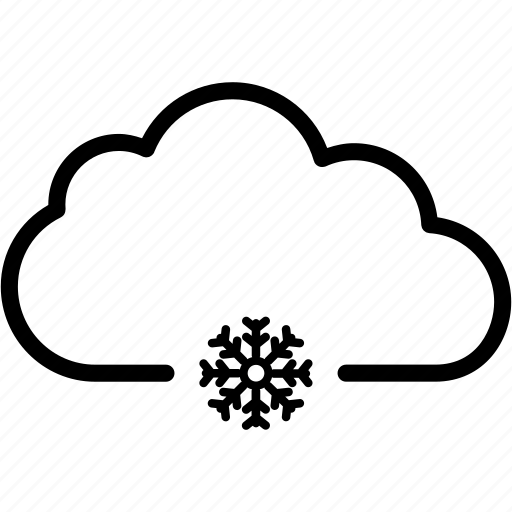 cloud, cloudy, ice, snow, snowflake, weather icon