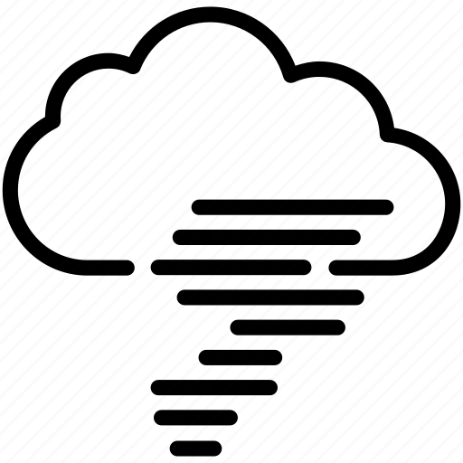 cloud, cloudy, forecast, storm, tornado, weather icon