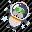 astronaut, emoji, emoticon, gorilla, smiley, sticker icon