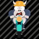 biker, emoji, emoticon, gorilla, smiley, sticker