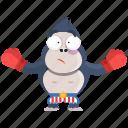 boxer, emoji, emoticon, gorilla, smiley, sticker icon