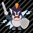 emoji, emoticon, gorilla, knight, smiley, sticker icon