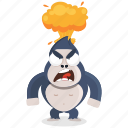 angry, emoji, emoticon, gorilla, mindblown, smiley, sticker