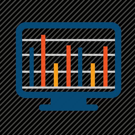 analytics, chart, dynamics, finance, indicator, levels, market, monitor, monitoring, report, stocks, summary icon