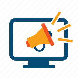ad, advertising, broadcast, broadcasting, bullhorn, internet marketing, marketing, megaphone, promo, promote, promotion, spread icon