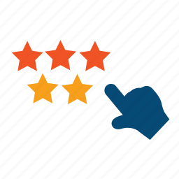 contentment, estimate, feedback, five star, grade, mark, popular, rank, rate, rating, recommend, recommendation, review, satisfaction, satisfied, stars icon