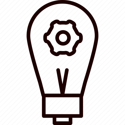 idea, light, lightbulb, processing icon