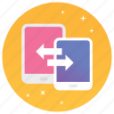 data exchanging, data sharing, data transfer, file sharing, wireless sharing icon