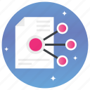 distribute, document sharing, file transfer, shared document, shared file, shared page icon