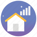 creative home, home router, power house, smart home, smart house icon