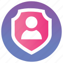 life insurance, personal insurance, personal protection, safety insurance, security system icon