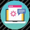 program development, software development, software operation, web configuration, web development icon