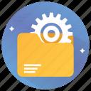 configuration, file manager, file setting, folder setting, gear icon