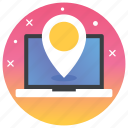 gps, online location, online map, online navigation, services icon