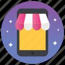 device cart, mobile shop, online shop, online shopping, shop, store icon